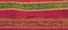 Vintage Sari Border Antique Hand Embroidered 1 YD Indian Trim Ribbon Decor Lace