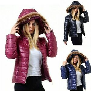 Image is loading QUALITY-WOMEN-PADDED-PUFFER-HOOD-COAT-BUBBLE-LADIES- 6e0cdd1a19a1