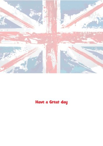 union jack personalised A5 birthday card son daughter sister brother name age