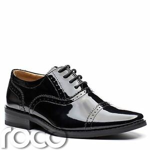Jungen Patent Schwarze Schuhe Jungen Brogue Schwarz Lackschuhe
