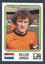 PANINI WORLD CUP STORY #083-MUNICH 74-NEDERLAND-HOLLAND-WILLEM JANSEN