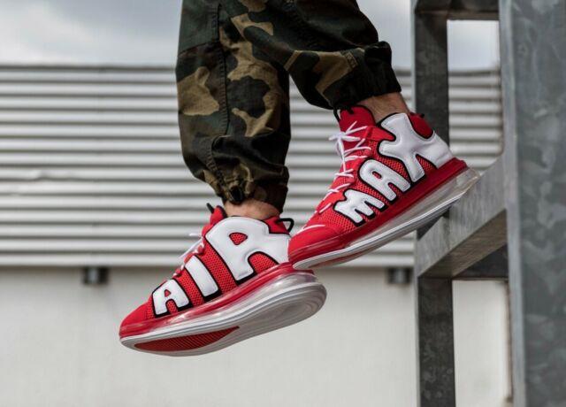 Nike Air More Uptempo 720 QS Svart Hvit CJ3662 001 Sko