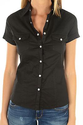 Chemise kaporal manches courtes femme NILEX Noir | eBay