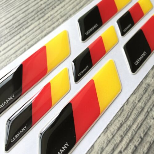 Germany German flag 3d domed emblem decal sticker BMW MERCEDES VW AUDI Porsche