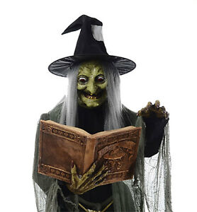 Life-Size-Animated-SPELL-SPEAKING-WITCH-Haunted-House-Halloween-Prop-Decoration