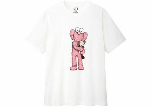 KAWS x Uniqlo Pink BFF Companion T Shirt Summer 2019 Us Size Limited Tee
