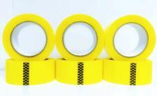 6 Rolls Carton Sealing Yellow Packing Tape Box Shipping 2 Mil 2 X 220 Yards