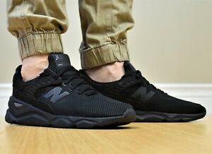 NEW-BALANCE-X90-Knit-Neuf-Homme-Lifestyle-Triple-Chaussures-Noires-MSX90CRE-001