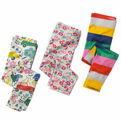 Cotton Kids Girl Baby Flower Floral Printed Leggings Pants Trousers 3pcs/lot