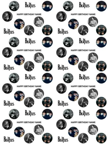 The Beatles Personalised Birthday Gift Wrapping Paper ADD NAME CHOOSE BACKGROUND