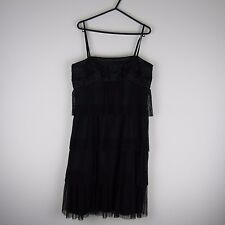 New Ladies Vintage Vera Mont Glam& Chic Cocktail Dress/Gown Black Size12 RRP£210