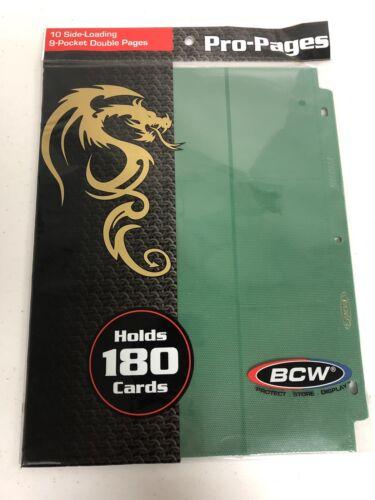 Side Loading 18 Pocket Pro 10 Album Binder Pages Green MTG Trading Cards By BCW