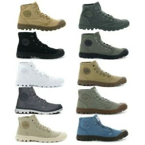 961c5d9eed6 Details about Palladium Mens Pampa Hi Canvas Shoes Casual Walking High Top  Lace Up Ankle Boots