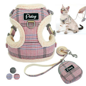 Front-Leading-Cat-Walking-Jacket-Harness-amp-Leash-Set-Mesh-Padded-Vest-for-Puppy