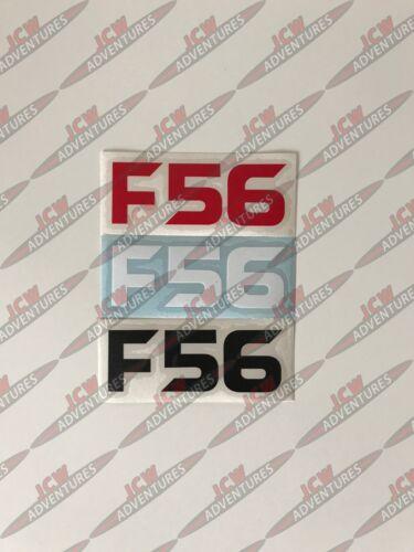 BMW MINI 3rd Gen F56 Model Designation Red Vinyl Sticker by JCW Adventures