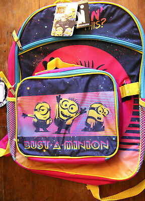 "Despicable Me 2 Minion School Large 16/"" inches Backpack /& Lunch Box Oops!"