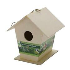 Garden Wooden Nesting Box Bird House For Small Birds - Blue Tit Robin Sparrow
