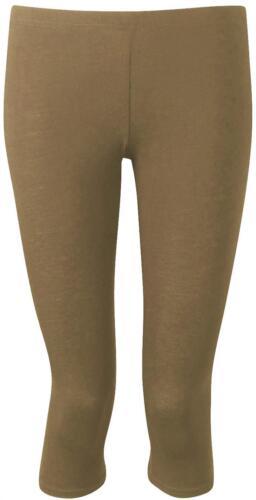 Ladies Plain Cropped ¾ Leggings 12-30