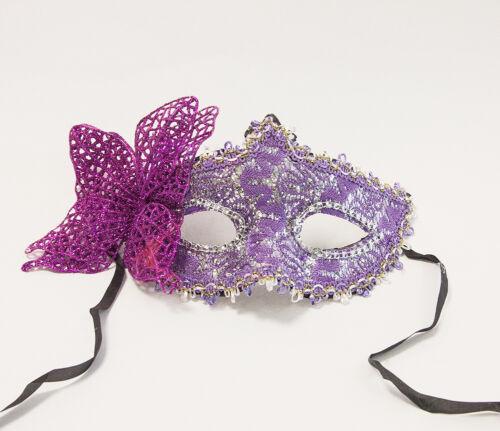 Burlesque-material señoras de Encaje Máscara con color brillo Veneciana Mascarada