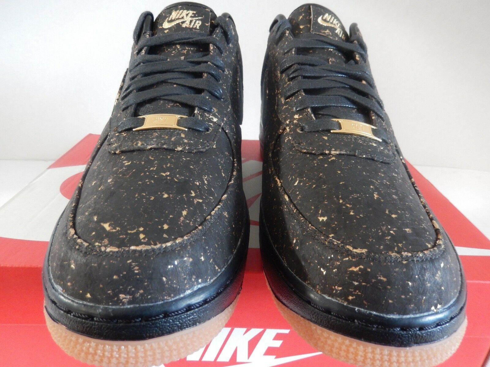 NIKE AIR FORCE 1 LOW CORK ID NBA CHAMPIONSHIP BLACK-MET GOLD SZ 11 [AH5908-994]
