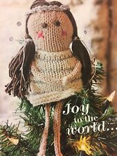 Christmas Tree Top Angel  Christmas Knitting Pattern