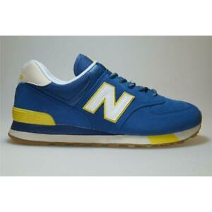 Details about New Balance ML 574 Jhp Blue/Yellow Shoes Trainers Men  766741-60-5