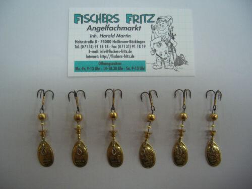 5  x Mepps Aglia gold 1 Gratis 6 Stück Gr 0 mit  2,5 g Spinner