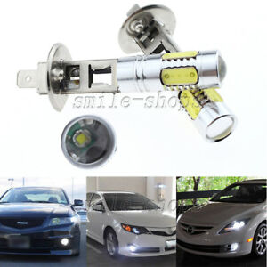 2pcs H1 High Power 11w White Cob Led Projector Bulbs For Car Fog