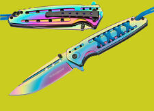 Böker Magnum Rainbow Tanto Taschenmesser Einhandmesser federunterstützt 01SC004