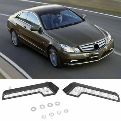 Fits Mercedes All 2016 L Shape DRL LED Daytime Running Lights Lamps Indicator