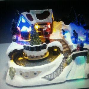 Avon-Winter-Wonderland-Centerpiece-animated-musical-figures-lit-w-fiber-optics