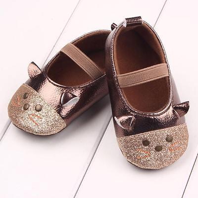 Infant Toddler Baby Girl Soft Sole Crib Shoes Prewalker Sneaker Newborn to 18 M