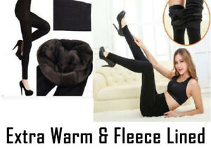 Nouvelle Robe Mesdames Hiver Polaire Thermique Chaud Extensible Épais Pleine Longueur Legging-afficher Le Titre D'origine