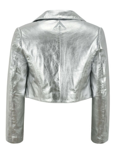 Ladies Shinny Cropped Leather Shrug Slim-fit Short Body Jacket Bolero Style 5650