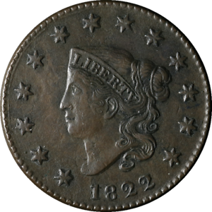 1822 Large Cent Nice XF N.6 R.3 Nice Eye Appeal Nice Strike