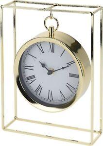 Modern-Gold-Mantlepiece-Clock-25cm-Tall-Hanging-Clock-Office-Desk-Clock