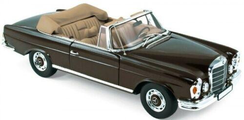 Norev 183568 Mercedes-Benz 280 SE Cabrio 1969 S-Klasse W111 braun 1:18