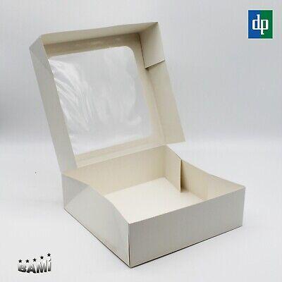 25,4 x 25,4 x 15,24 cm Unbedruckte Tortenkartons 5 St/ück
