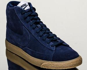 premio nike blazer metà di scarpe da ginnastica nuove binari blu mens