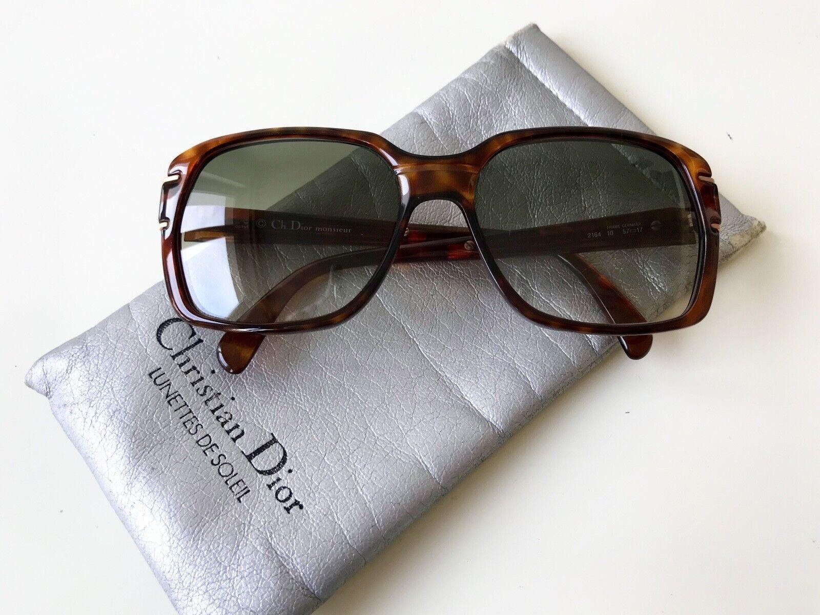 Vintage Christian Dior Monsieur 2164 Sunglasses Havana AUSTRIA OPTYL NOS Large-show original title