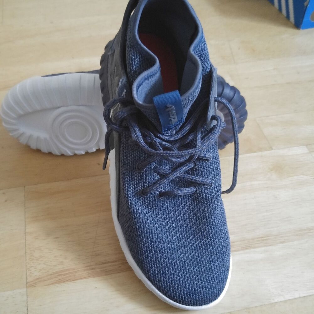 Adidas Tubular x Primeknit Baskets Homme HI Top UK10 44.5 euros Entièrement neuf dans sa boîte RARE-