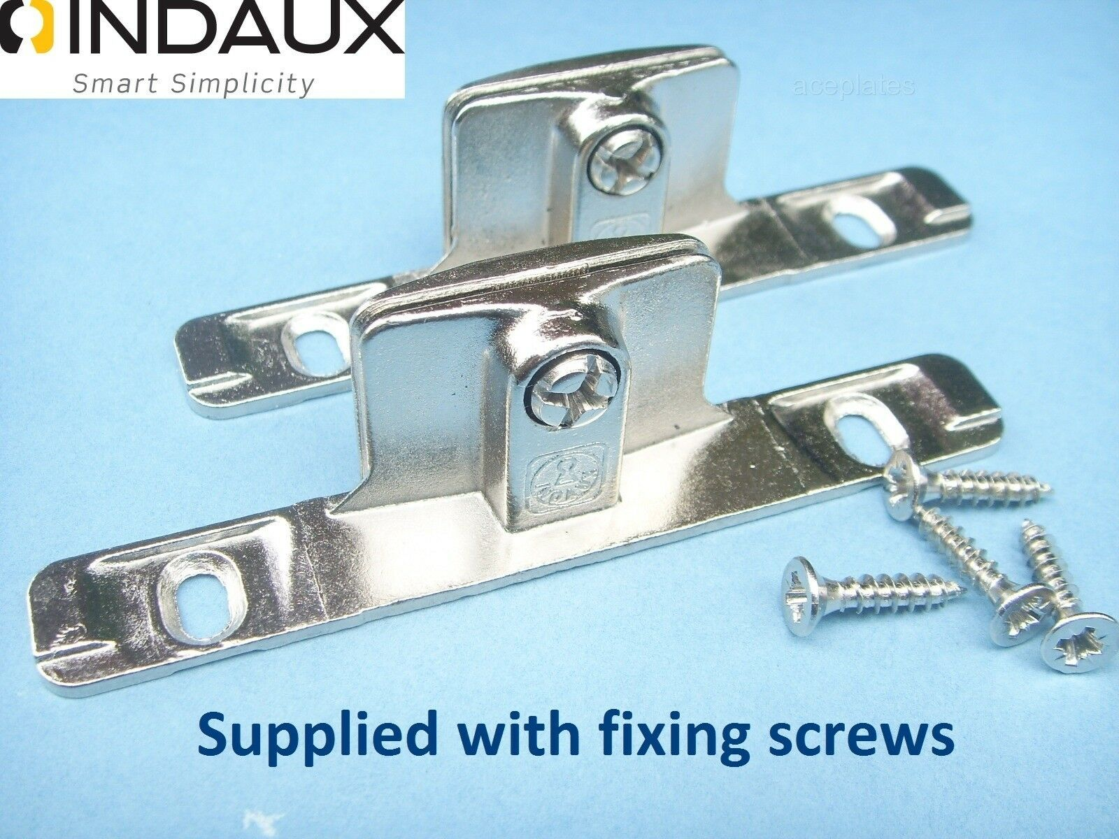 Genuine INDAUX Kitchen Drawer Front Fixing Brackets,pair Including ...