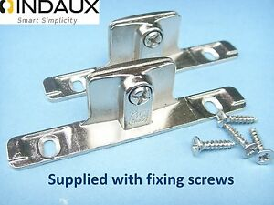 Image Is Loading Genuine INDAUX Kitchen Drawer Front Fixing Brackets Pair