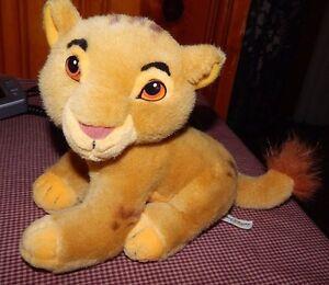 Vintage-Disney-World-Lion-King-Cub-Baby-Simba-Plush-Stuffed-Animal-Toy-9-034-RARE