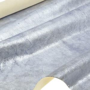 Piel-de-Cordero-Plata-Azul-Antiguo-Metalico-Diseno-1-0-MM-Dick-Cuero-Natural