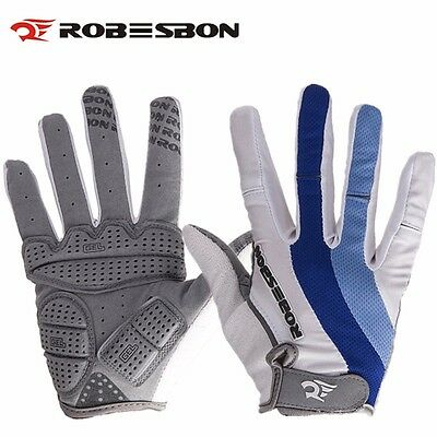 Winter Sports Cycling Bike Bicycle GEL Padded Full Finger Racing Riding Gloves