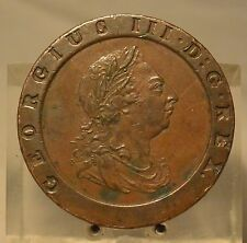 1797 Great Britain Copper 2 Pence, Old World Coin