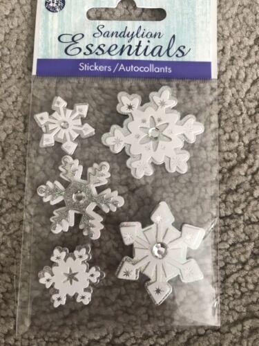 Snowflakes Snow Dimensional Stickers Sandylion Essentials Scrapbooking