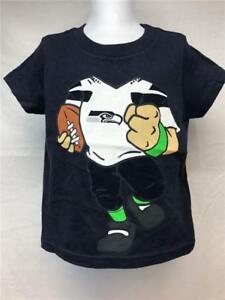 eabedd2b New Seattle Seahawks Kid Size 2T Navy Blue NFL Apparel Shirt   eBay