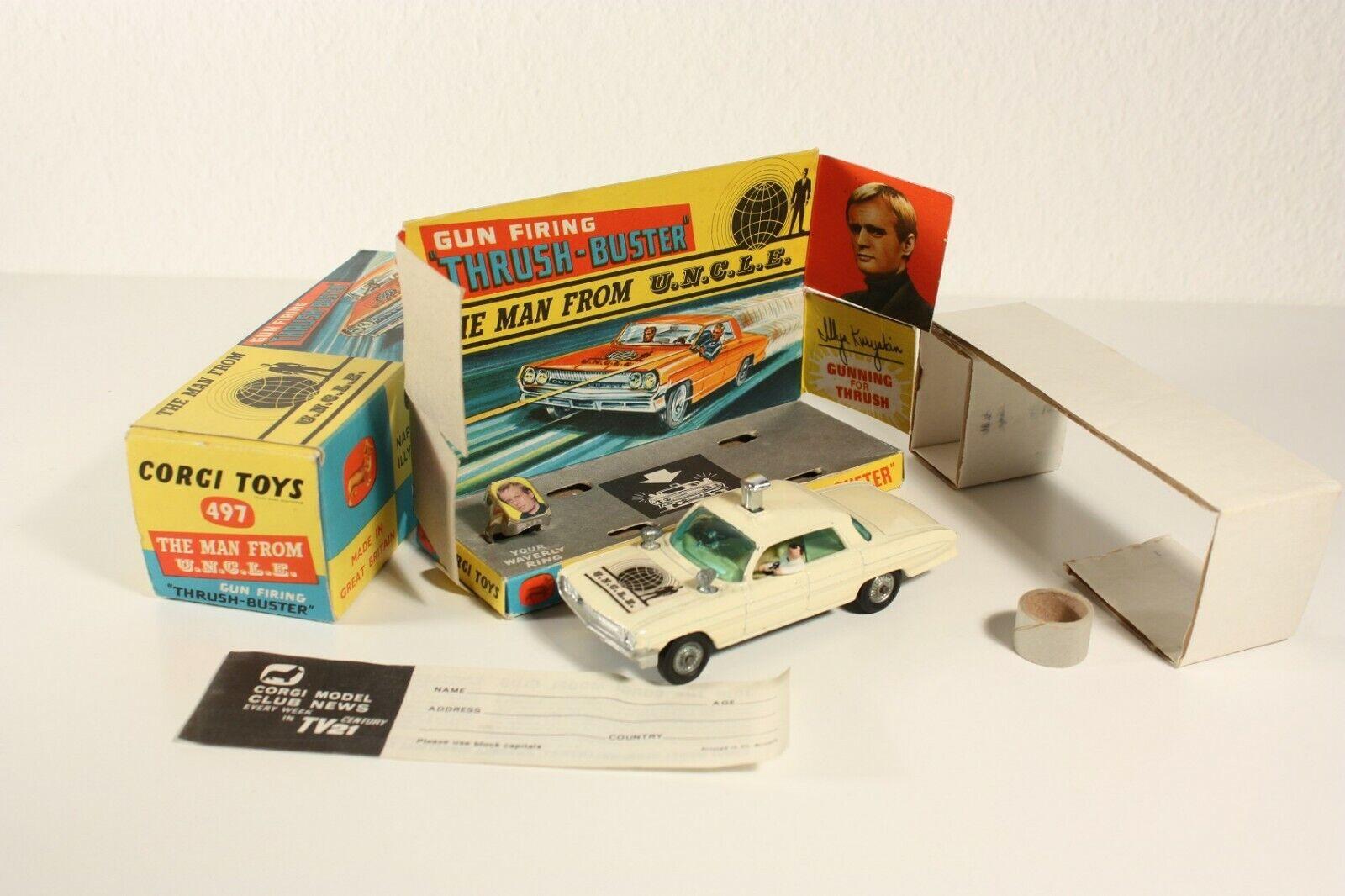 Corgi Toys 497, The Man From U.N.C.L.E., RARE version, Mint in Box  ab2294